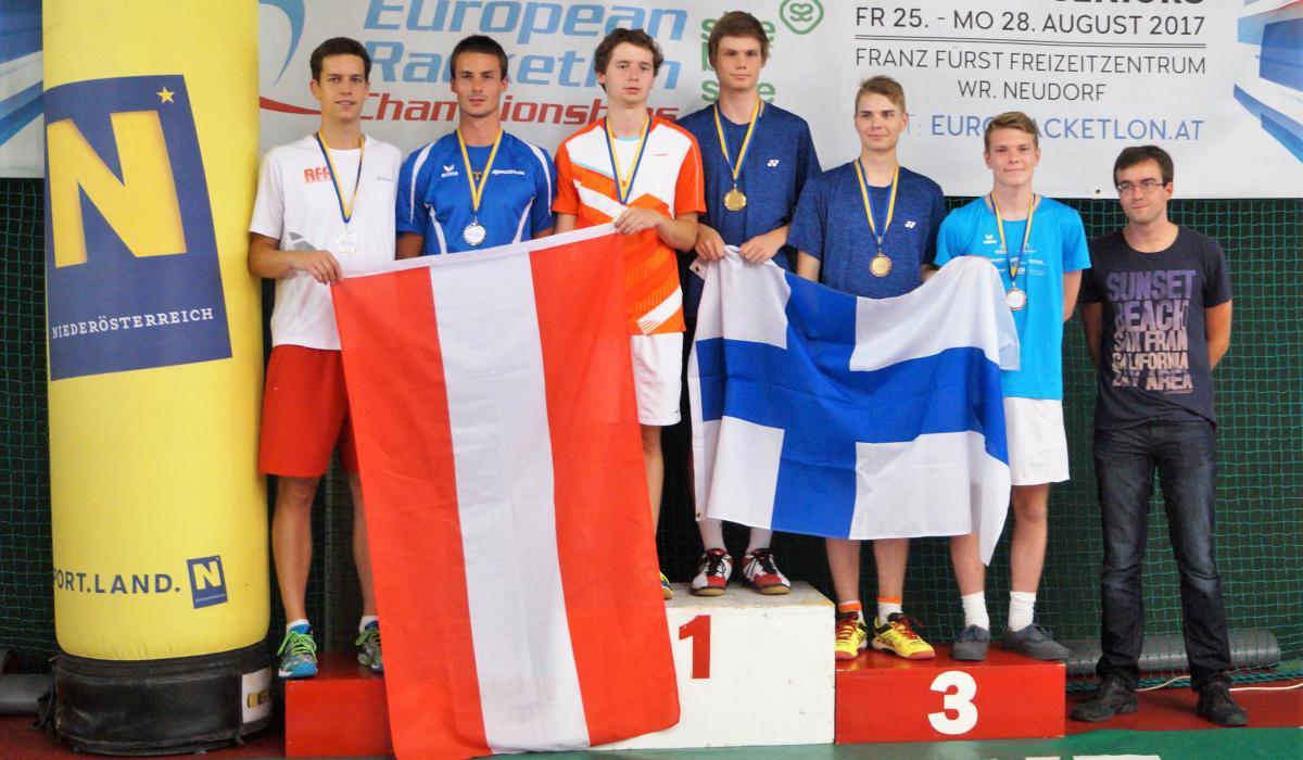 Podium EK Juniours U21 Doubles